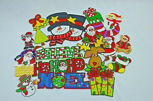 18pc-CHRISTMAS-XMAS-BUNDLE-Embroidered-Iron-Sew-On-Cloth-Patch-Badge-APPLIQUE