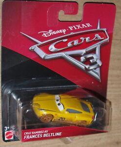 Disney Cars Diecast-Cars 3 Cruz Ramirez comme Frances BELTLINE-Nouvelle version 2017