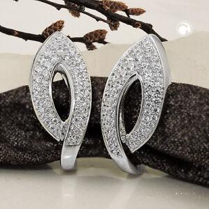925-Sterlingsilber-Ohrringe-Silbercreolen-Creole-Zirkonia-rhodiniert-Silber