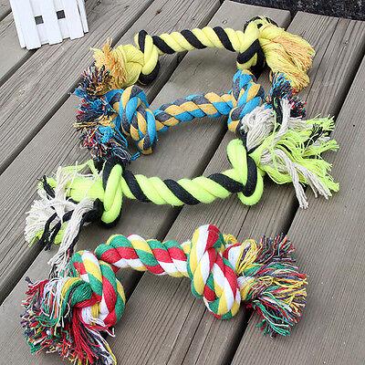 1 x Fun Dog Puppy Pet Cotton Braided Bone Rope Chew Knot Toy New