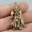 40MM-Collect-Curio-Chinese-Bronze-Guan-Gong-Yu-Warrior-God-Amulet-Small-Pendant thumbnail 5