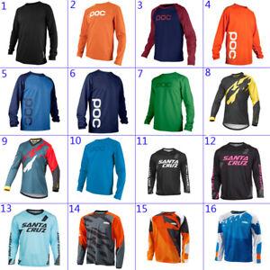 Men Long Sleeve Resistance Downhill Shirt Cycling Jersey motocross bike clothing