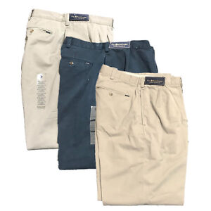 Polo Ralph Lauren Classic Pleated Fit Navy Blue Khaki Pants Big /& Tall NEW NWT