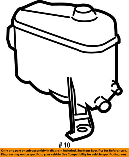 GM OEM-Radiator Coolant Overflow Tank Reservoir Recovery Bottle 15120611