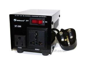 Goldsource ST-200 200 Watt Step Down/Up Voltage Converter 5055377502973