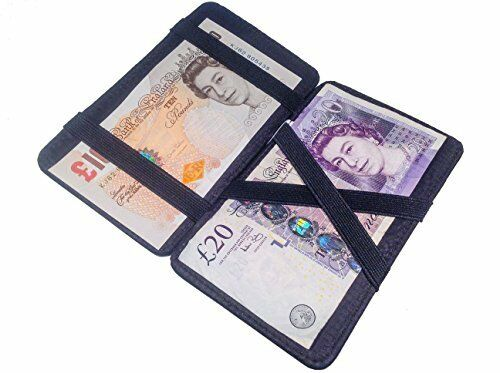 Real Sheep Nappa Leather Magic Wallet Milkman Taxi Trader Bus Smart Puzzle Drive