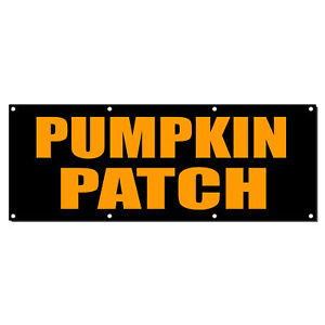 Pumpkin Patch Food Fair Promotion Business Vinyl Banner Sign With Grommets