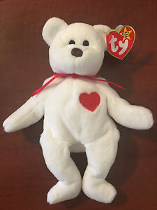 2557922d410 Image is loading TY-VALENTINO-BROWN-NOSE-beanie-baby-RARE-RETIRED-