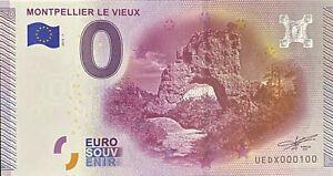 BILLET-0-EURO-MONTPELLIER-LE-VIEUX-FRANCE-2015-NUMERO-100