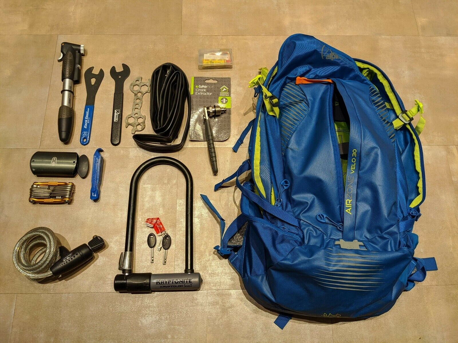 Laage Alpine Airzone Rugzak met Bike Kit BEPERKT EDITION