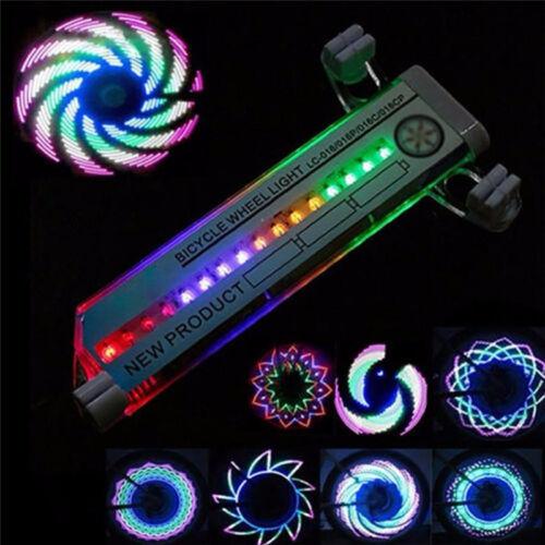 2X Double Sided 16 LED Colorful Knight Mountain Bike Wheel Light Spoke Lights SX