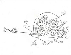 Jetsons six pages of 8 x11 model sheets w classic for The jetsons coloring pages