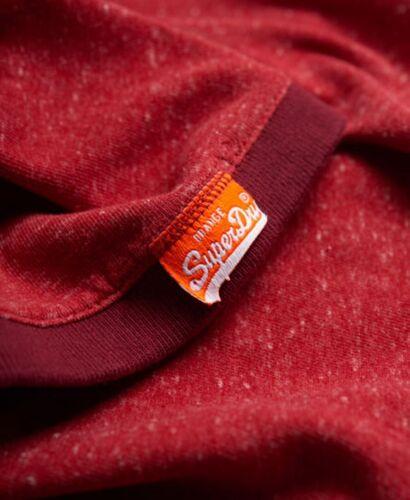 Superdry Cali Ringer T-Shirt Crew Neck Flint Rustic Red Grit Size XL OL