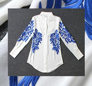 Ob14500 Sleeve Long Misto Silk Ceremony Camicia Seta Woman Donna Casual Shirt qZWgvaCw