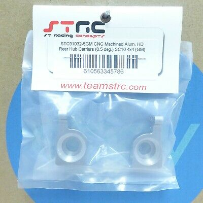 0.5 degree rear hub carriers STC91032-5S SILVER STRC SC10 4x4 Aluminum Upgrade