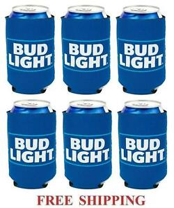 BUSCH LIGHT BEER 6  12oz CAN COOLERS COOZIE COOLIE KOOZIE HUGGIE BUD NEW