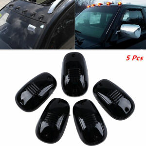 Black Smoked Lens 5Pcs Car SUV Cab Top Roof Running Marker Light Amber LED Lamp