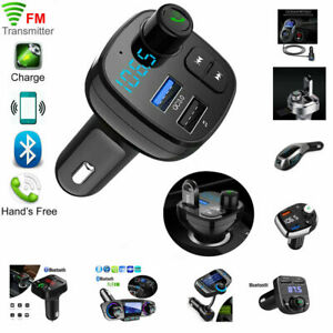 Wireless-Bluetooth-Handsfree-Car-Kit-FM-Transmitter-MP3-Player-Dual-USB-Charger