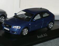 1:43 Audi A3 8P blau MINICHAMPS mauritius blue 2 3 4 5 6 8 9 0 tdi tfsi fsi s3