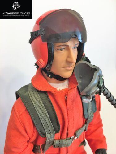 orange avec Servo Commande Head 1//4.5 ~ ÉCHELLE 1//4 moderne Jet Pilot Figure