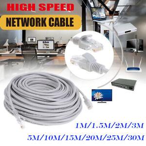 RJ45-CAT5e-Patchkabel-Netzwerkkabel-LAN-Ethernet-Netzwerk-Patch-Kabel-1m-30m