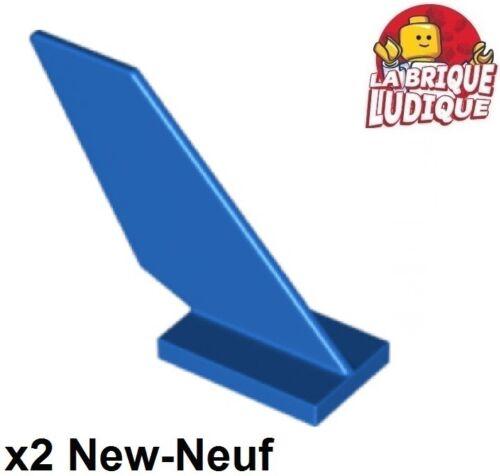 Lego 2x Tail aileron avion vaisseau bateau boat 4x1x3 bleu//blue 6239 NEUF