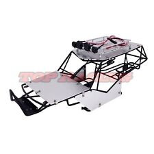 1/10 RC AXIAL WRAITH ALL METAL FRAME BODY ROLL CAGE W/ ROOF RACK SHEETS BLACK