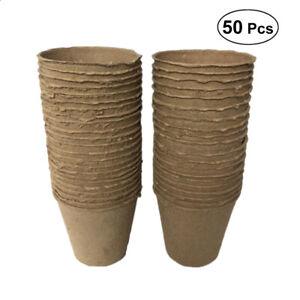 50 Stück Anzuchttöpfe Aussaattöpfe Anzuchttopf Saattöpfe Ziehtöpfe Anzucht Rund