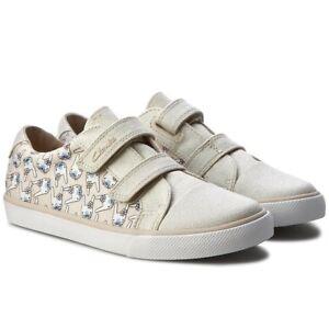 ef51c20d4b3 Clarks Doodles Girls Gracie Pip Inf Canvas Cotton Shoes Size UK 10 1 ...