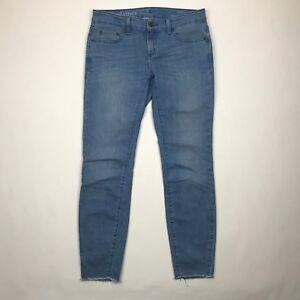 Vineyard-Vines-Women-Raw-Hem-Light-Wash-Skinny-Jeans-sz-4-Actual-30-034-W