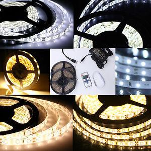 1m 10m led strip waterproof 5630 3528 smd light strip flexible fr remote power ebay. Black Bedroom Furniture Sets. Home Design Ideas