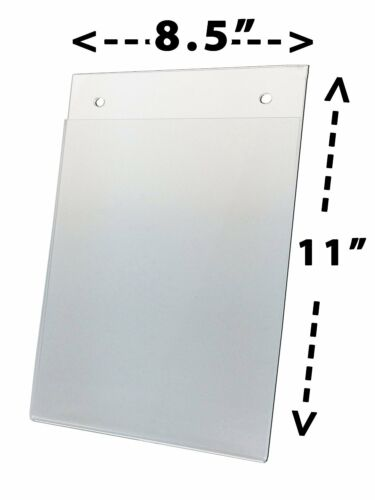 "8.5/"" X 11/"" Wall Mount Sign Holders with Mounting Holes 10-pack Acrylic"