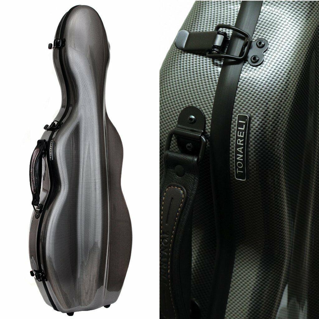 Tonareli Special Edition Violin Fiberglass Case - Graphite - 4 4 VNF1018