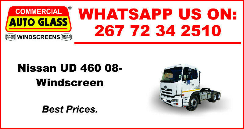 Windscreen For Nissan UD 460 2008 For Sale.