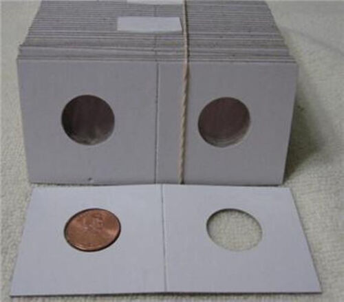 100 2x2  Cardboard Coin Holder Penny Cent