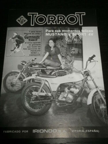 AD PUBLICITE ANUNCIO 2017 SPANISH TORROT MUSTANG SPORT MOTORCYCLE MOTO