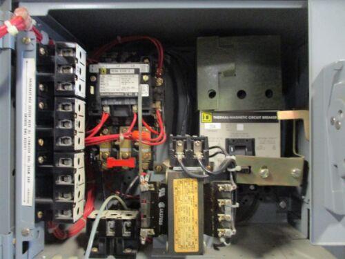 "SQUARE D MODEL 4 SIZE 1 12/"" MCC BUCKET 20 AMP CIRCUIT BREAKER"