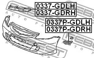Mounting Bracket bumper FEBEST 0337-GDRH