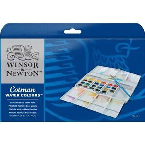 Winsor-amp-Newton-Cotman-Painting-Plus-24-Acquerelli-mezzi-godets-390376-Tavolozza