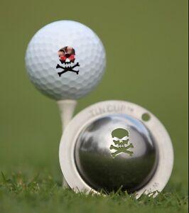 Tin-Cup-Pelota-Golf-sitema-de-marcado-Jolly-Roger