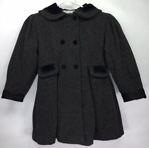 c6a415de9fe ROTHSCHILD Wool Winter Girls 6X (FITS LIKE A 8) Peacoat Gray Dress ...