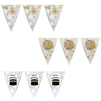 Rose Gold 2m Long with 13 Large Flags Nikkah Mubarak Bunting Banner