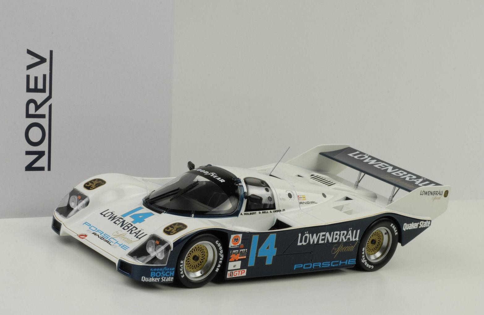 1986 Porsche 962 C 14  Lion Hurlant Gangant 24h Daytona Holbert Cloche 1 18 Norev  meilleur service