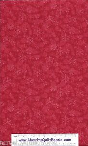 Chill-Out-Red-Snowflake-Snow-Flake-Winter-Tonal-Novelty-Quilt-Fabric-BTY