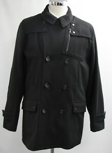 Black Campione 3497 Overcoat Breasted Double Label 3xl Men's dwOCd
