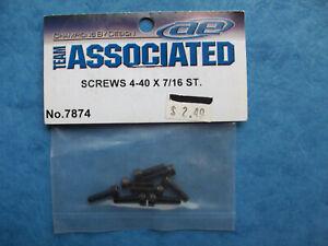 SCREWS GENUINE TEAM ASSOCIATED 7874 4-40 X 7//16 ST ASC7874 NIP 8