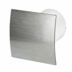 Bathroom-Extractor-Fan-100mm-4-034-with-Humidity-Sensor-Timer-Silver-Panel-WES100H