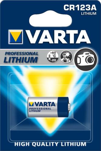 Varta CR123A 3V Lithium 1er Blister 1430 mAh 6205