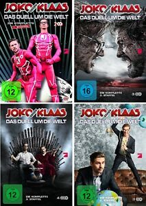 12-DVDs-JOKO-GEGEN-KLAAS-DAS-DUELL-UM-DIE-WELT-STAFFEL-1-4-SET-NEU-OVP-amp-B