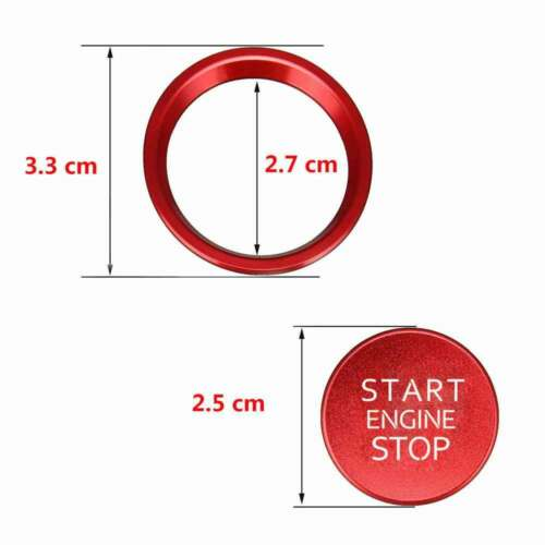 Start Stop Engine Switch Red Push Button Cover For Audi Q5//Q7//A8L//A5//A6L//A4L